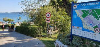 Kolovare strand Zadarnál